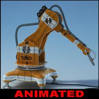 3d model airbrush robot