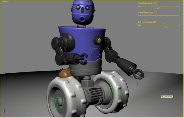 robot rigged animation 3ds - Robot 3 (Rigged & Animated)... by LSDhillon