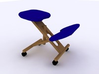 Ergonomic Wood Chair