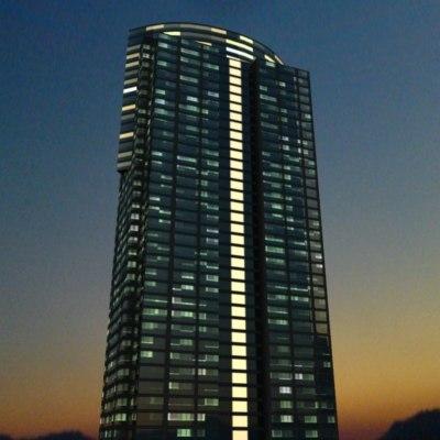 skyscraper Los night