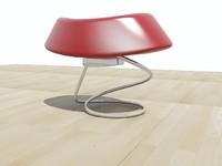 modern stool 3d model