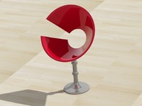 modern stool design 3d model