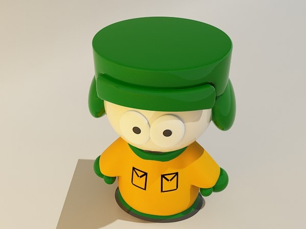 south park characters c4d - South park characters... by 3d_addict