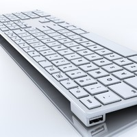 apple keyboard 3d c4d