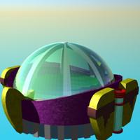 free astrodome x-com 3d model