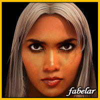 head halle berry hair 3d model