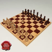 chess modelled 3ds