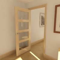3d 4 panel glazed door