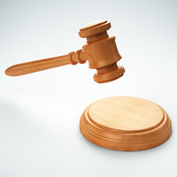 Gavel with sound block