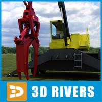 3d knuckleboom loader industrial vehicles model
