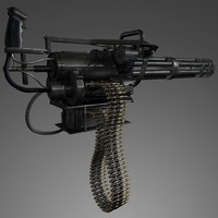 3d model minigun