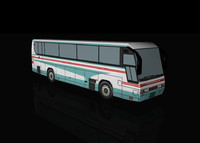 3d model commuter bus