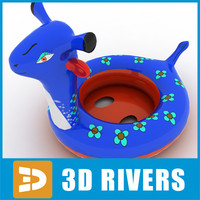 3d model kids rubber ring