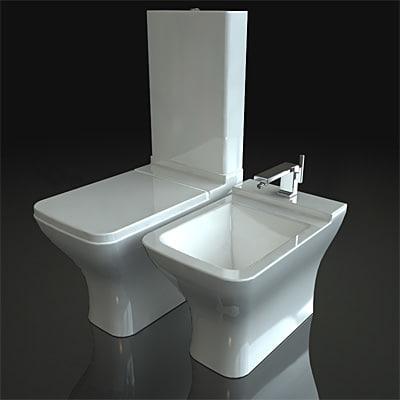 3dsmax toilets duravit puravida. Black Bedroom Furniture Sets. Home Design Ideas