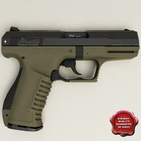 realistic walther p99 3d xsi