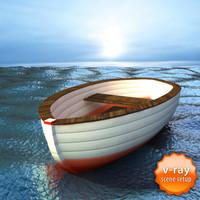 sea boat 3d max