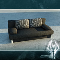 LowPoly black couch