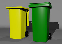 3d garbage dumpster trash bin model