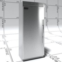 3d viking refrigerator