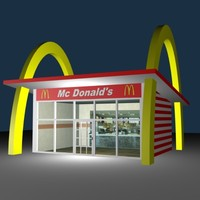 3d model of mc donald
