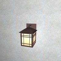 outdoor wall mounted lantern 3d model