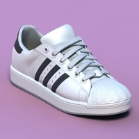 excellent white sports shoes 3d model