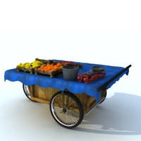 portable bazaar car 3d max