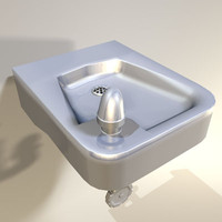 3d model of water fountain retro 04