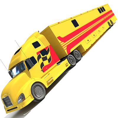 Race Car Transporter Truck 2