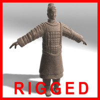 Terracotta Warrior - RIGGED (SALE PRICE!)
