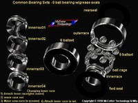 machine ball bearing 3d model