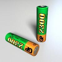 3d model battery gp