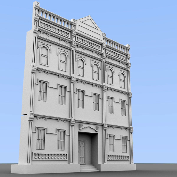 3d model building facade - Building Facade... by scripter