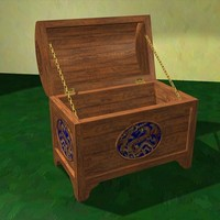 3ds decorative chest