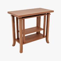 3d design coonley end table model