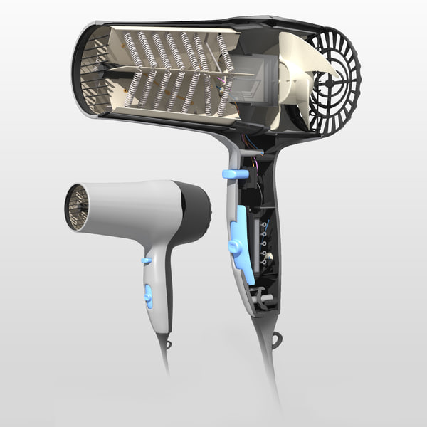 Hair Dryer Inside ~ Ds max hair dryer