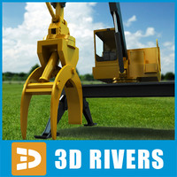 knuckleboom loader industrial vehicles 3d max
