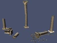 broken pillar 3d max