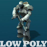 Robot - animated lowpoly model