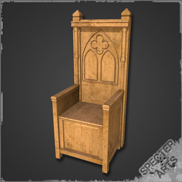 3ds max medieval throne for Chair design 3ds max