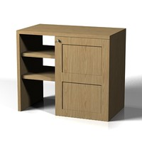 modern bathroom cabinet 3d model