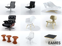 3d eames furniture