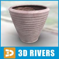 3ds max planter flowerpot