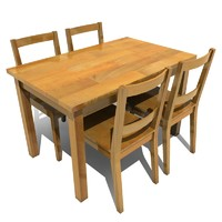 dining table and chairs 01