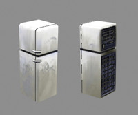 3d model fridge contain