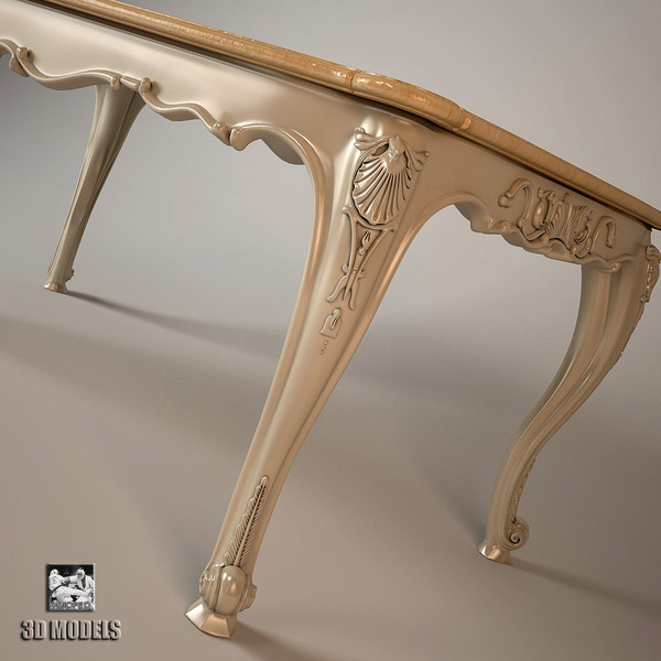 3ds max dining table louis for Table design 3d model