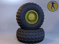 3d 3ds truck wheel