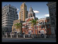 3d model architecture city