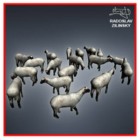 SHEEP herd lowpoly