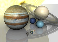 Hi Resolution Planetary Solar System